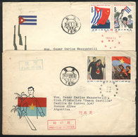 564 CHINA: Sc.746/747 + 748/749, 1963 And 1964 Liberation Of Vietnam And Cuba, The 2 Set - China