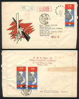 568 CHINA: Sc.766, 1964 Map Of Vietnam, On FDC Cover To Argentina (+ Another 2 Stamps On - China