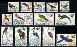 997 MALAWI: Sc.95/109, 1968 Birds, Cmpl. Set Of 14 Values, MNH, VF Quality, Catalog Valu - Malawi (1964-...)