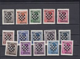 Lot Croatia Overprints MNH - Kroatien