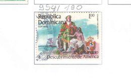 Rep.Dominicana PO 1985 Scoperta America.Scott.954 Nuovo/Used See Scans On Scott.Page - Repubblica Domenicana