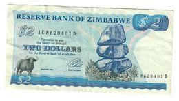 Zimbabwe 2 Dollars 1994 .J. - Zimbabwe