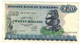 Zimbabwe 20 Dollars 1994 .J. - Zimbabwe