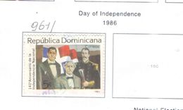 Rep.Dominicana PO 1986S Giornata Indip. .Scott.961 Nuovo/Used See Scans On Scott.Page - Repubblica Domenicana