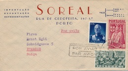 Lettre Soreal Porto Pour La Suisse - Lettres & Documents
