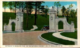 Entrance To Wheeling Park, On The National Highway (40) At Wheeling, W. VA. - Wheeling