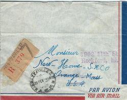Congo - Cover. Brazzaville To United States.1956.  .  H-1300 - Congo - Brazzaville