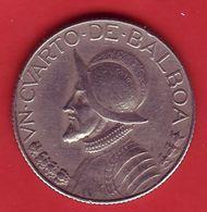 - PANAMA - Un Cuarto De Balboa - 1966 - - Panama