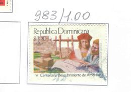 Rep.Dominicana PO 1986 Scoperta America Scott.983 Nuovo/Used See Scans On Scott.Page - Repubblica Domenicana