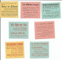 7 Vignettes ANTI CROIX De FEU, ANTI FASCISME - Documents Historiques