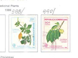 Rep.Dominicana PO 1986 Piante  Scott.989+990 Nuovo/Used See Scans On Scott.Page - Repubblica Domenicana