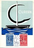 EUROPA CEPT 1966 CARTE MAXIMUM FRANCE YVERT Nº 1490/1491- Michel No: 1556-1557 - 1966