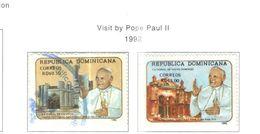 Rep.Dominicana PO 1992 Visita Papa    Scott.1121+1122 Nuovo/Used See Scans On Scott.Page - Repubblica Domenicana