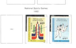 Rep.Dominicana PO 1992 Nat.Games Sport    Scott.1129+1130 Nuovo/Used See Scans On Scott.Page - Repubblica Domenicana