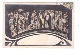 Prénom Valentine Cpa Carte Fantaisie Cachet 1907 - Nomi
