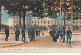 38. GRENOBLE . CPA. COLORISEE.  QUARTIER DE BONNE. ARTILLERIE . ANNEE 1918 + TEXTE - Grenoble