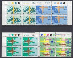 Falkland Islands 1979 Opening Stanley Airport 4v Bl Of 4 ** Mnh (37806A) - Falklandeilanden
