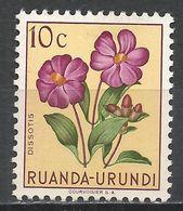 Ruanda-Urundi 1953. Scott #114 (M) Dissotis, Flowers - Ruanda-Urundi