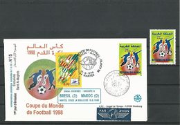 2éme JOURNEE-GROUPE A BRESIL(3 ) MAROC (0) NANTE,STADE DE BEAUJOIRE 16 . 6 .1998  LIMITEE 1 à 30 N° 15 - Abarten Und Kuriositäten