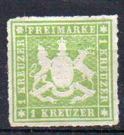 Wurtemberg N° 30 Neuf (*) (neuf SANS Gomme) - Cote Neuf * : 55€ (Y&T 2005) - Wuerttemberg