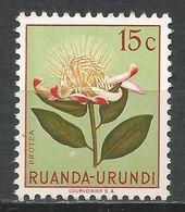 Ruanda-Urundi 1953. Scott #115 (M) Protea, Flowers * - Ruanda-Urundi