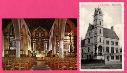 2 Cp - Lo - Stadhuis - Hôtel De Ville - Intérieur Eglise St Pierre Maître Autel Avec Rétable - NELS - DUPONT - Lo-Reninge