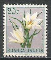 Ruanda-Urundi 1953. Scott #116 (MH) Vellozia, Flowers - Ruanda-Urundi
