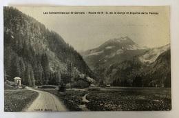 Les Contamines Sur St Gervais. Route De ND De La Gorge Et Aiguille De La Pennaz - Saint-Gervais-les-Bains