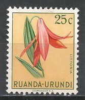 Ruanda-Urundi 1953. Scott #117 (MH) Littonia, Flowers - Ruanda-Urundi