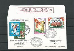 1ére JOURNEE GROUPE G ANGLETERRE 2 TUNISIE 0 MARSEILLE STADE DE VELODROME 15 . 6 . 1998  LIMITEE 1 à 30 N° 15 - Abarten Und Kuriositäten