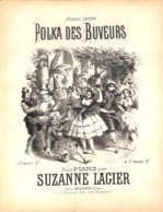 Polka Des Buveurs, Pour Piano. Partition Ancienne, Grand  Format, Couverture Chatinière. - Partitions Musicales Anciennes