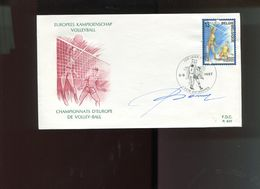 Belgie 1987 2260 Volleyball Sports   FDC + Signature Designer Oscar Bonnevalle - FDC