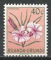 Ruanda-Urundi 1953. Scott #118 (MH) Ipomoea, Flowers - Ruanda-Urundi