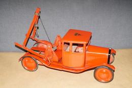 Camion Grue Tri-Ang,England,originale Jouet Ancien En Tôle,longueur. 48 Cm.Collection - Toy Memorabilia