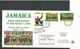 1er TOUR GROUPE H 1ére JOURNEE JAMAIQUE 1 CROATE 3 LENS FELIX  BOLLOERT 14 . 6 . 1998  LIMITEE 1 à 20 N° 018 - Abarten Und Kuriositäten