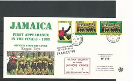1er TOUR GROUPE H 1ére JOURNEE JAMAIQUE 1 CROATE 3 LENS FELIX  BOLLOERT 14 . 6 . 1998  LIMITEE 1 à 20 N° 018 - Errors & Oddities