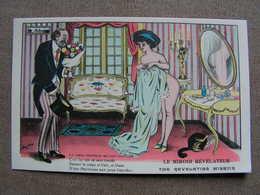 Cpa Xavier Sager Femme Nue Seins Illustrateur Curiosa  Le Miroir Revelateur The Revelating Mirroir  N° 61 - Sager, Xavier