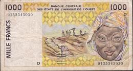 WEST AFRICAN STATES MALI P111Aa 1000 FRANCS (19)91 FINE 1 P.h. . - Mali