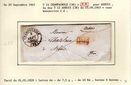 JURA : LSC  T 14 CHAMPAGNOLE + P.P. 1845 - 1801-1848: Précurseurs XIX