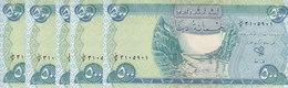 IRAQ 500 DINARS 2003 2004 P-92 LOT X5 UNC NOTES */* - Iraq