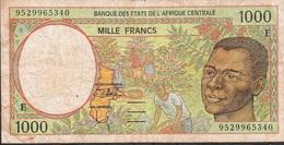 CENTRAL AFRICAN STATES Letter F P302Fc 1000 FRANCS (19)95 FINE - Central African States