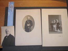 'S HERTOGENBOSCH - BURGMEESTER P.J.J.M. VAN DER DOES DE WILLEBOIS - 1884-1917 - 3 Photos - Beroemde Personen