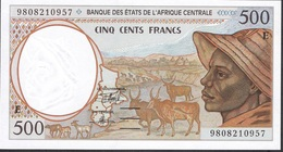 CENTRAL AFRICAN STATES Letter E P201Ee 500 FRANCS (19)98 UNC. - Central African States