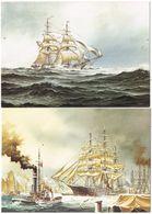 27723. DOS Postales Barcos Comercio HAMBURG (Alemania) 1839 Y 1900 - Comercio