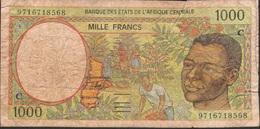 CENTRAL AFRICAN STATES Letter C P102Cd 1000 FRANCS (19)97 FINE - États D'Afrique Centrale