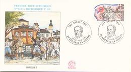 FRANCE FDC DU 25 FEVRIER 1989 VARENNES EN ARGONNE DROUET - FDC
