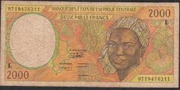 CENTRAL AFRICAN STATES Letter L P403Ld 2000 FRANCS (19)97 FINE - Central African States