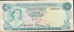BAHAMAS P35a 1  DOLLAR 1974 FINE - Bahamas