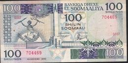 SOMALIA P35a 100 SHILLINGS 1983  AVF 1 P.h. - Somalia