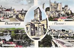 ** Lot De 3 Cartes ** 86 - CHAUVIGNY :  Cartes Diversifiées - 1 CPSM Format CPA Et 2 CPSM Grand Format - Vienne - Chauvigny